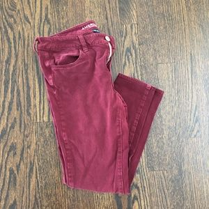 AE Hi-Rise Jegging Next Level Stretch Burgundy